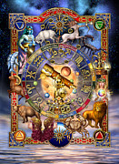 Symbols Digital Art Posters - Astrology Poster by Ciro Marchetti