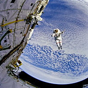 North American Aviation Photos - Astronaut in Atmosphere by The  Vault