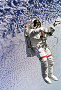 Space Art - Astronaut Mark Lee Spacewalk  by The  Vault