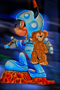 Walt Disney World Photographs Posters - Astronaut Training Bear Poster by Thomas Woolworth