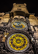 Prague Digital Art Prints - Astronomical Clock Print by Matthew Gulosh