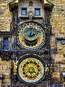 Astronomical Clock Photo Framed Prints - Astronomical Clock - Prague Framed Print by Jon Berghoff