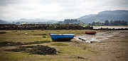 Low Tide Prints - Asturias Seascape With Boats Print by Frank Tschakert