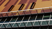 Peepholes Prints - ASU Office Building Print by Georgianne Giese