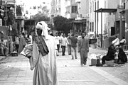 Laura Hiesinger Metal Prints - Aswan street seller Metal Print by Laura Hiesinger