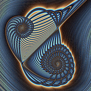 Asymmetric Wire Bow Spiral Print by Mark Eggleston