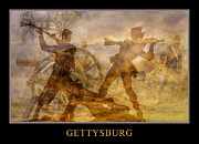 Statue Of Confederate Soldier Digital Art Framed Prints - At a Place Called Gettysburg Poster Framed Print by Randy Steele
