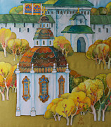 Moscow Paintings - At An Ancient Monastery -1   by Khromykh Natalia