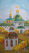 Moscow Paintings - At An Ancient Monastery-2 by Khromykh Natalia