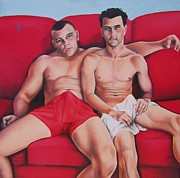 Masculine Painting Originals - At Ease   by Michael Flynt