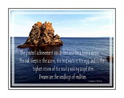 Achievement Of Dreams Framed Prints - At First a Dream - James Allen Framed Print by Barbara Griffin