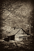 Mountain Cabin Prints - At Home in the Appalachian Mountains Print by Paul W Faust -  Impressions of Light
