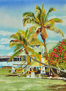 Florida Waterscape Originals - At Home on the Island by Terry Arroyo Mulrooney