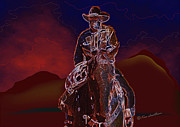Western Art Digital Art - At Home On The Range by Kae Cheatham