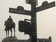 Famous Americans Photos - at Monument and Boulevard by Nancy Dole McGuigan