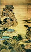 Chinese Landscape Posters - At Mount Li - Escaping the heat Poster by Pg Reproductions