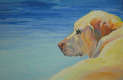 Yellow Lab Paintings - At Peace by Kimberly Santini