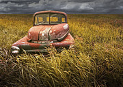 Randall Nyhof - At Roads End - A Photograph of an Abandoned Dodge Auto on the Prairie