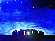 Mysteries Painting Posters - At Stonehenge  Poster by Krista May