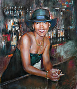 Bar Pastels - At the Bar by Ylli Haruni