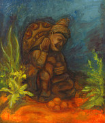 Buddha Paintings - At the Bottom of the Sea by Sarai Rosario