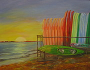 Canoes Originals - At the Causeway  by Polly Berlin