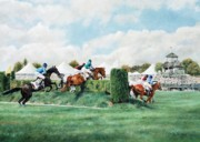 Jockey Painting Originals - At the Cheltenham Bank by Anita Baarns