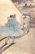 Tutu Paintings - At the Circus Entering the Ring by Henri de Toulouse Lautrec
