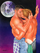 Disco Mixed Media Prints - At the Disco Print by Steven Stines