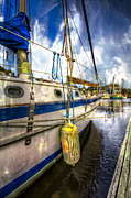 Florida Bridges Prints - At The Dock Print by Debra and Dave Vanderlaan