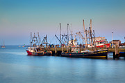 New England Villages Prints - At the Docks Print by Bill  Wakeley