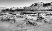 Cracked Eggs Prints - At the Egg Factory Bisti De-Na-Zin Wilderness  Print by Vivian Christopher