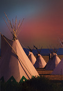 Teepee Prints - At the Encampment Print by Kae Cheatham