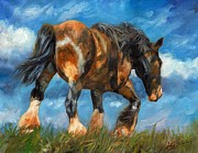 Horse Artist Art - At The End Of The Day by David Stribbling