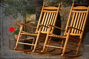 Rocking Chairs Digital Art Prints - At the End of the Day Print by Terry Fleckney