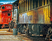 Oldzero Photos - At The End of The Train Yard by Steve Benefiel