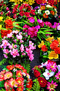 Hues Prints - At the Flower Market  Print by Olivier Le Queinec