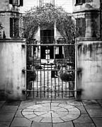 Garden Digital Art Metal Prints - At the Gate Metal Print by Perry Webster
