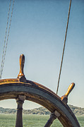 Vintage Boat Photos - At The Helm by Margie Hurwich