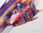 Ferrari Watercolor Posters - At The Limit Poster by Robert Hooper