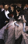 At The Ball Posters - At The Masquerade Poster by Charles Hermans