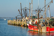 New England Villages Prints - At the Pier Print by Bill  Wakeley