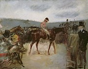 Jockey Art - At the races by Jean Louis Forain