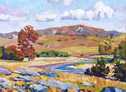 Painterly Originals - At The RIverbend by  David Lloyd Glover