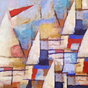 Sails Prints - At the Sea Print by Lutz Baar
