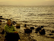 Jordan Photo Originals - At the Shores of the Sea of Galilee by Sandra Pena de Ortiz