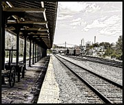 Colourized Framed Prints - At The Station Framed Print by Mike Waddell