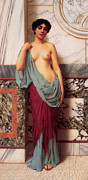 John Digital Art - At The Thermae by John William Godward
