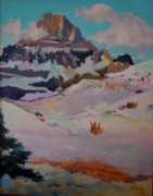 Park Scene Paintings - At the Top - Glacier National Park by Francine Frank
