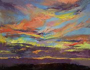 Impasto Oil Paintings - Atahualpa Sunset by Michael Creese